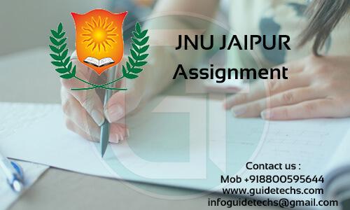 JNU JAIPUR Solved Assignment for MBAHR - 210 Entrepreneurship and small business management