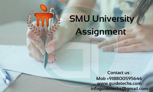 SMU BBA Solved Assignment For Logistics Management